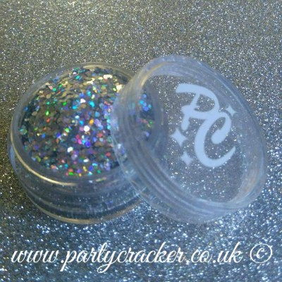 50g Silver Holographic Chunky Glitter
