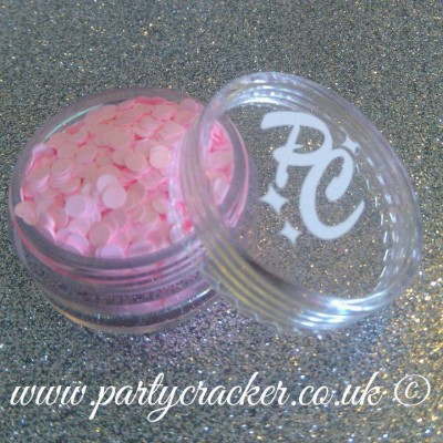50g - 3mm Baby Pink Disc Shaped Body Glitter