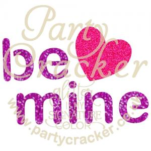 5 x Be Mine Word Art Stencil