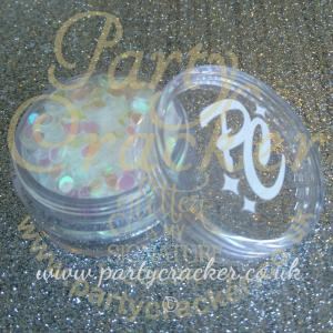 3mm Clear Iris Disc Shaped Body Glitter