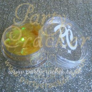 5mm Yellow Iris Disc Shaped Body Glitter