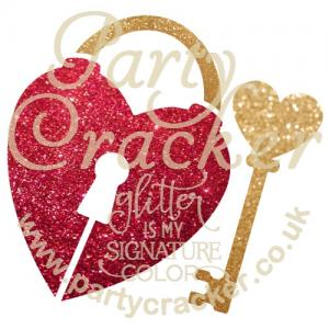 5 x Heart Lock Key Stencil
