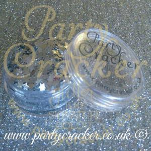 25g Silver Star Shaped Body Glitter