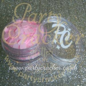 Baby Pink Square Shaped Body Glitter
