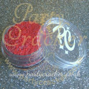 Red Matt Chunky Glitter