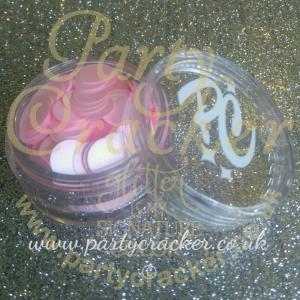 8mm Baby Pink Disc Shaped Body Glitter